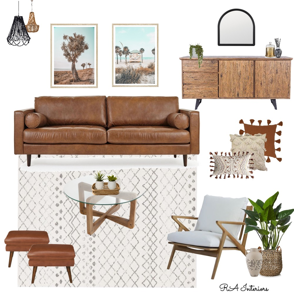 Autumn Tone Living Room Interior Design Mood Board by RA Interiors on Style Sourcebook
