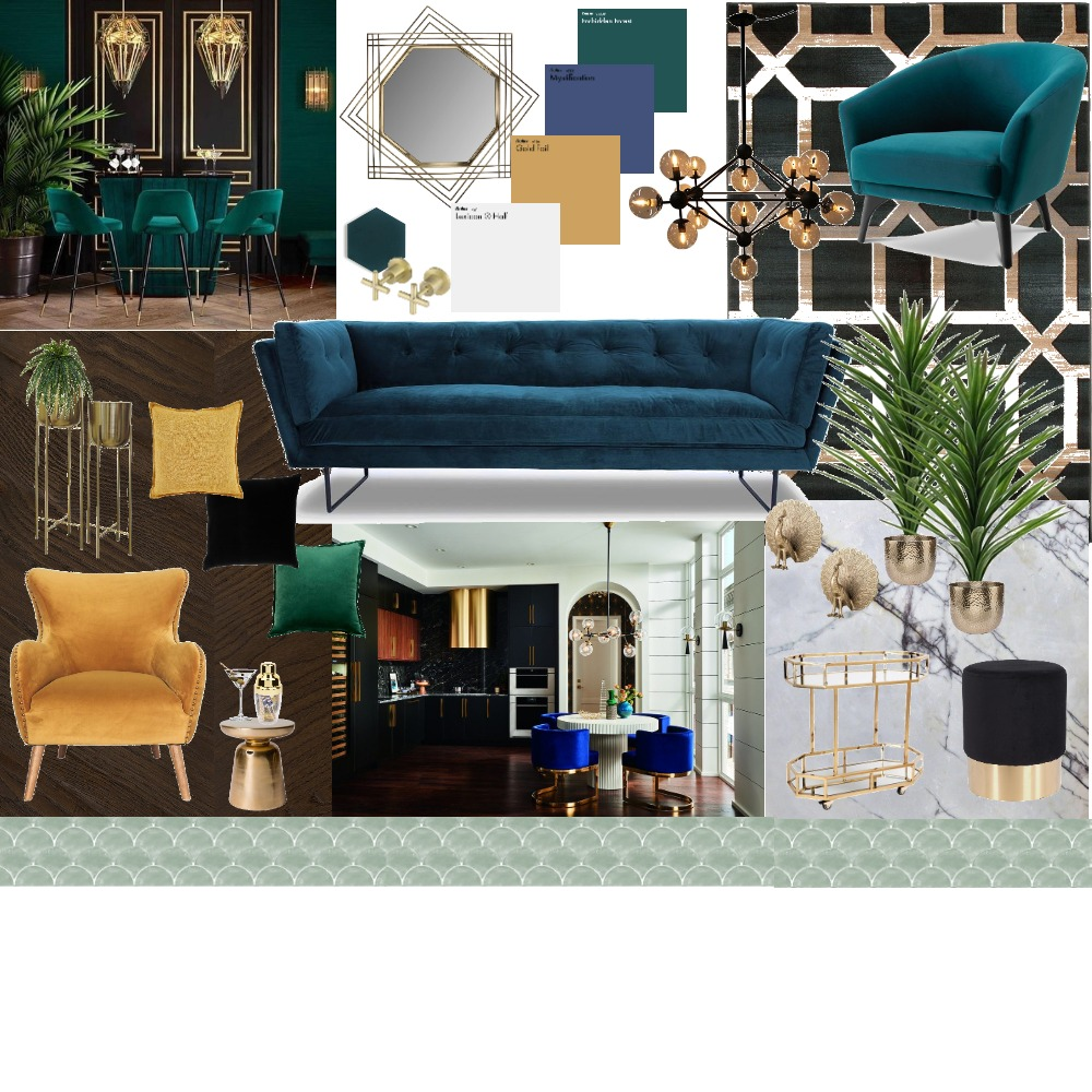 Assignment 3 art deco Interior Design Mood Board by _eightysixdesigns on Style Sourcebook
