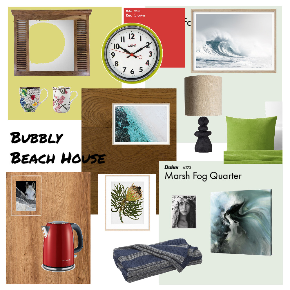 Bubbly Beach House Interior Design Mood Board by Botanical_Dreamer on Style Sourcebook