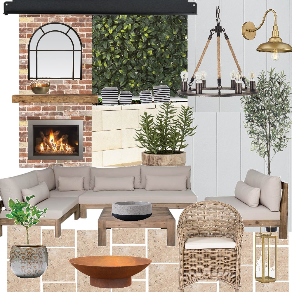 MODERN FARMHOUSE ALFRESCO Interior Design Mood Board by ezjaber on Style Sourcebook