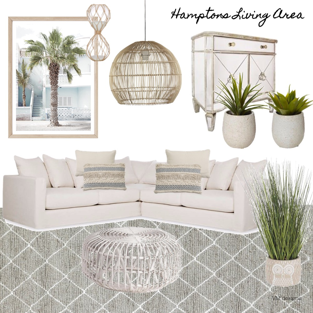 Hamptoms Living Interior Design Mood Board by viktoriavillo on Style Sourcebook