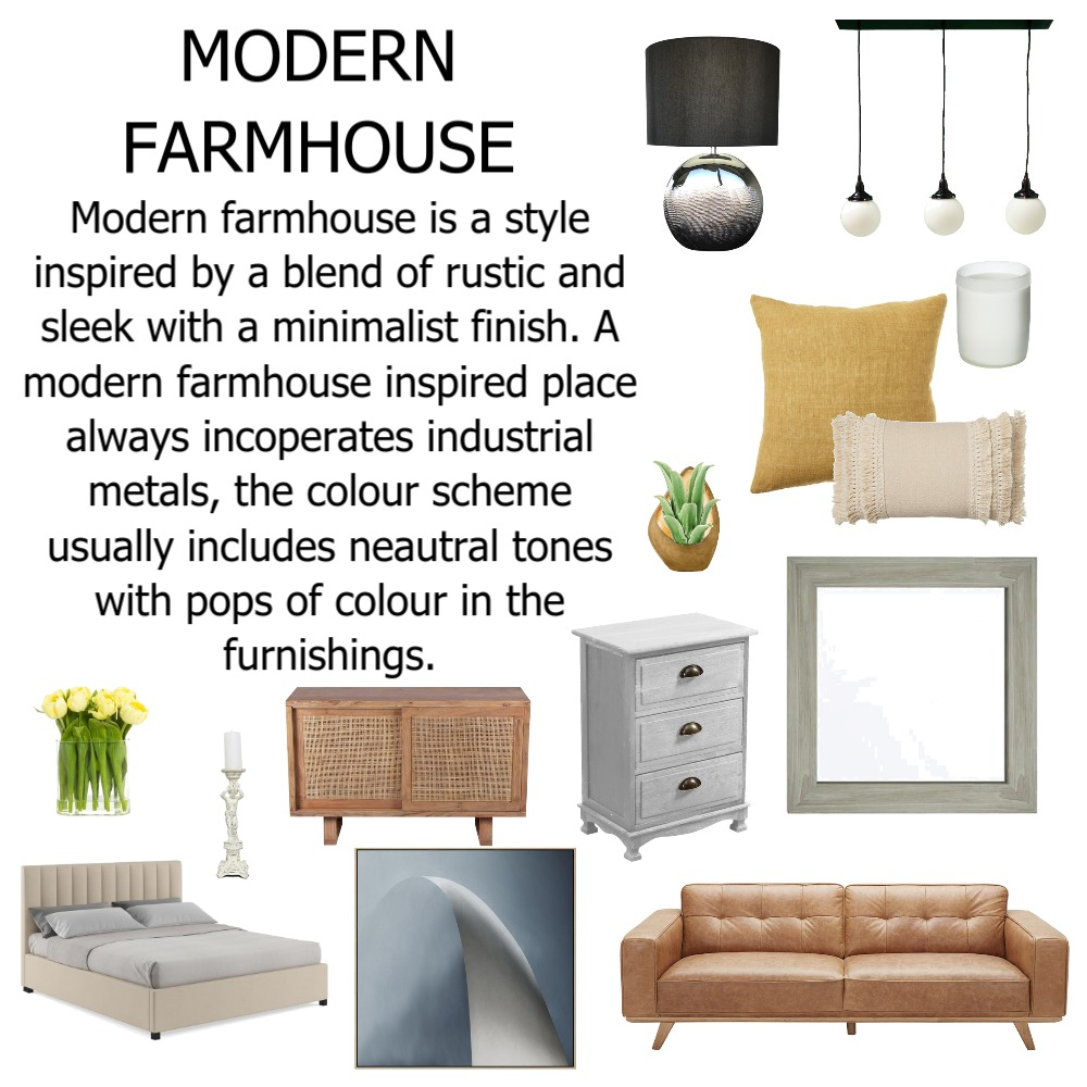 MODERN FARMHOUSE Interior Design Mood Board by jadegiacomelli00 on Style Sourcebook