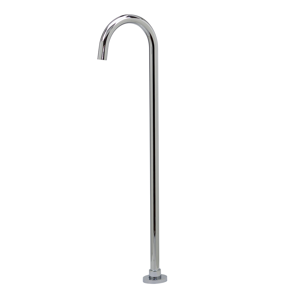 Symphony Floor Standing Bath Spout - Luxury Chrome