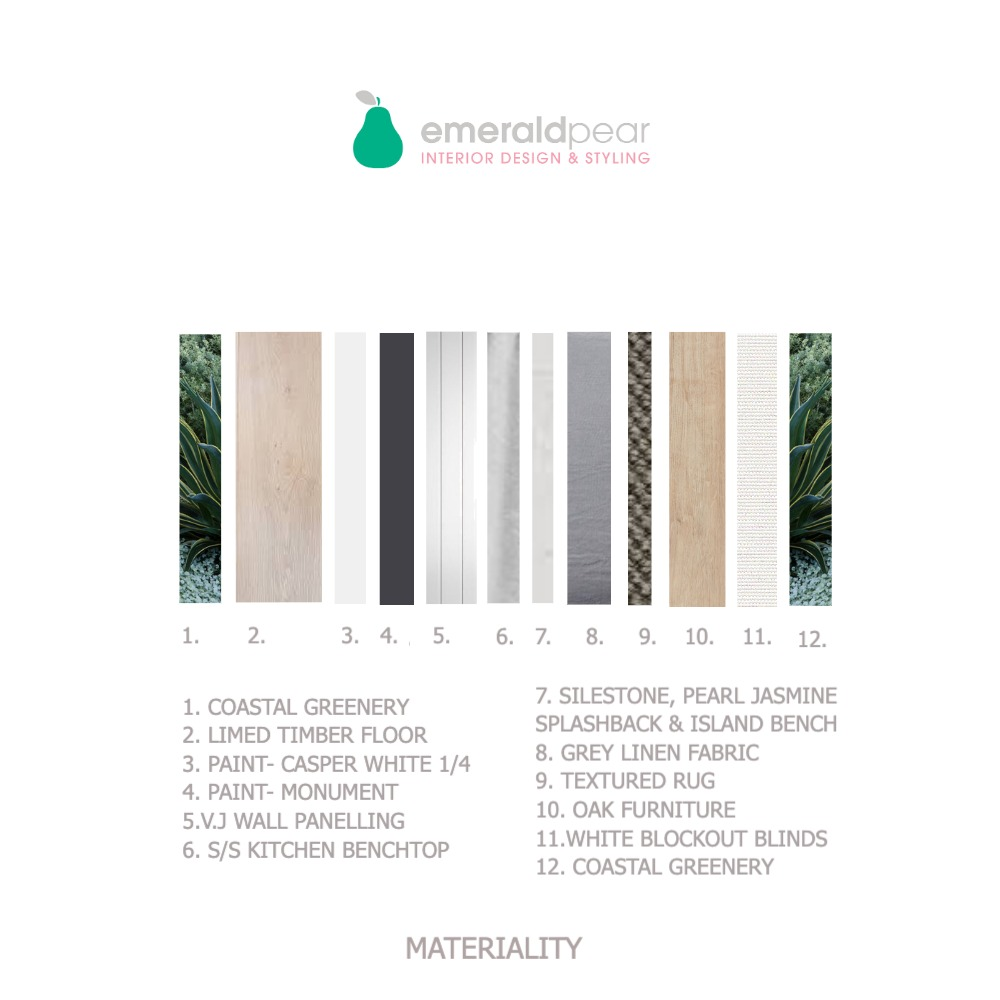 MATERIALITY Interior Design Mood Board by Emerald Pear  on Style Sourcebook