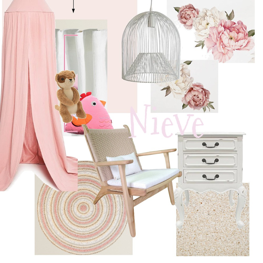 Neive's Bedroom Interior Design Mood Board by Lenny on Style Sourcebook