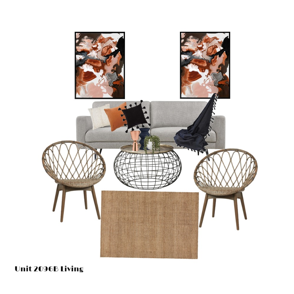 Unit 2096B Living Interior Design Mood Board by MimRomano on Style Sourcebook
