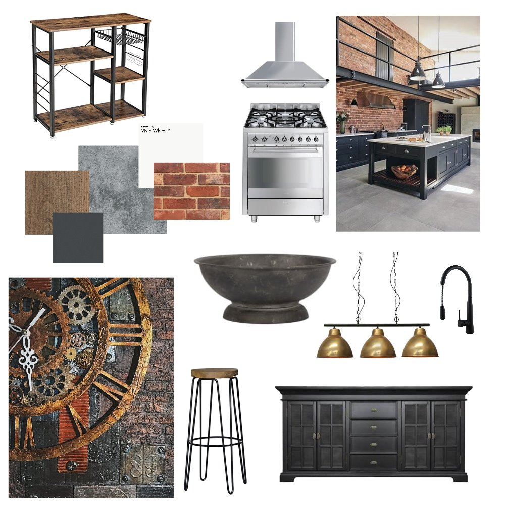Industrial Kitchen Interior Design Mood Board By Misshell33 Style Sourcebook
