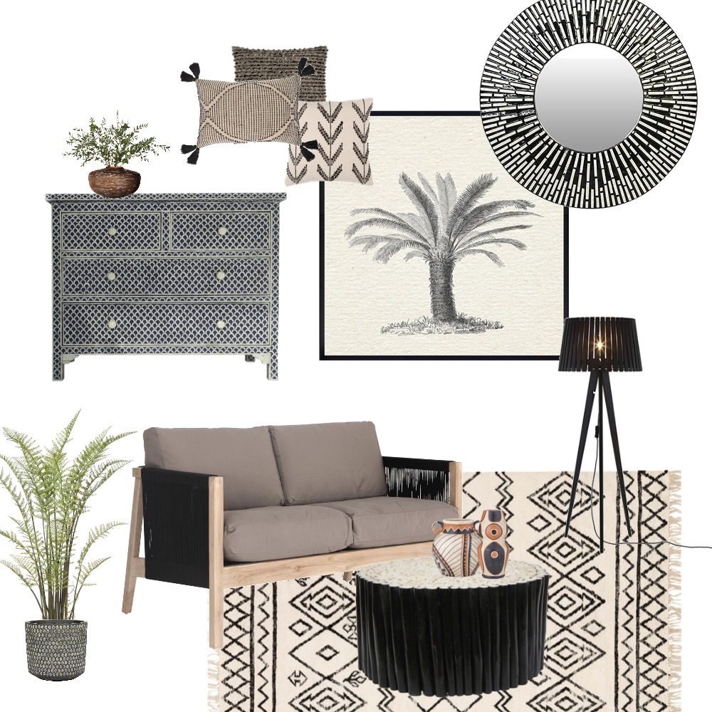 Tribal sitting room Interior Design Mood Board by Simplestyling on Style Sourcebook