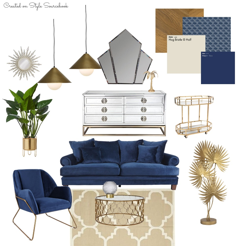 Roaring Art Deco Interior Design Mood Board by SALT SOL DESIGNS on Style Sourcebook
