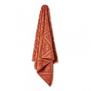 Home Republic Florence Velour Towel Range  Terracotta  By Adairs by Home Republic, a Towels & Washcloths for sale on Style Sourcebook