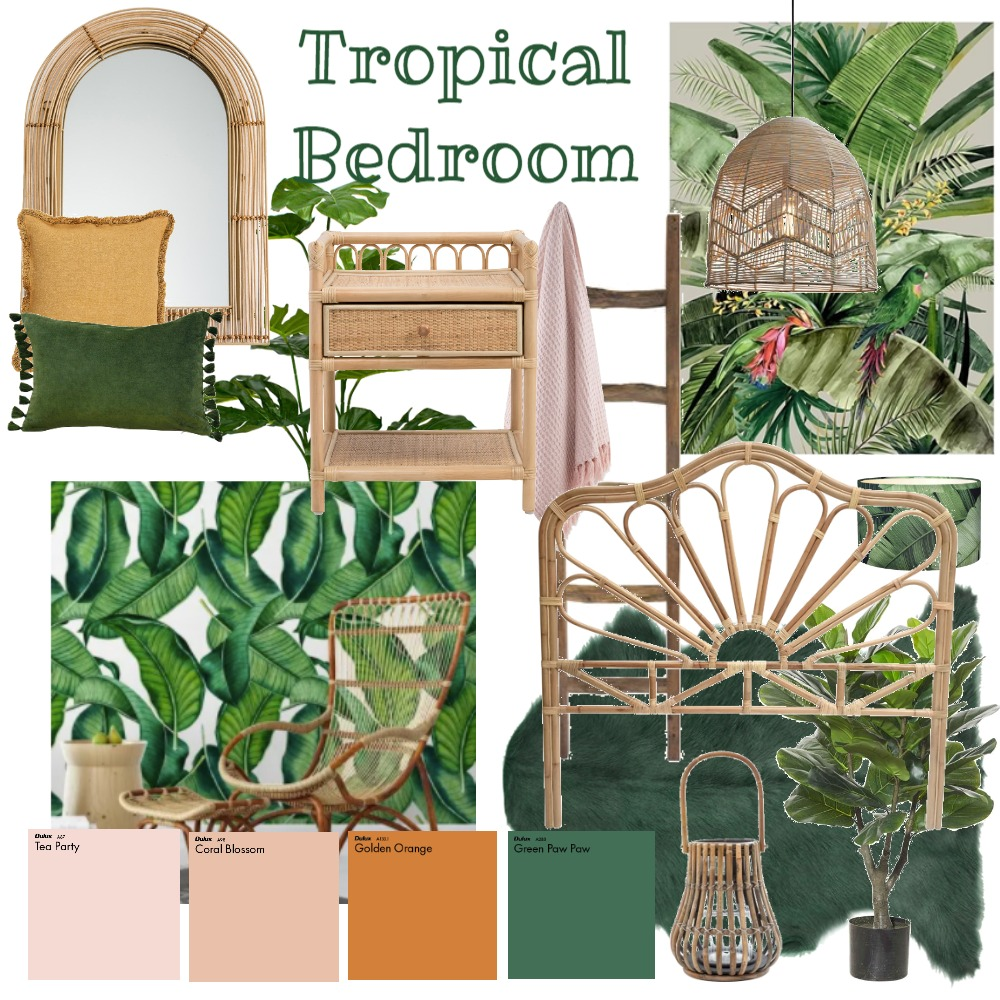 tropical Interior Design Mood Board by georgialeary on Style Sourcebook