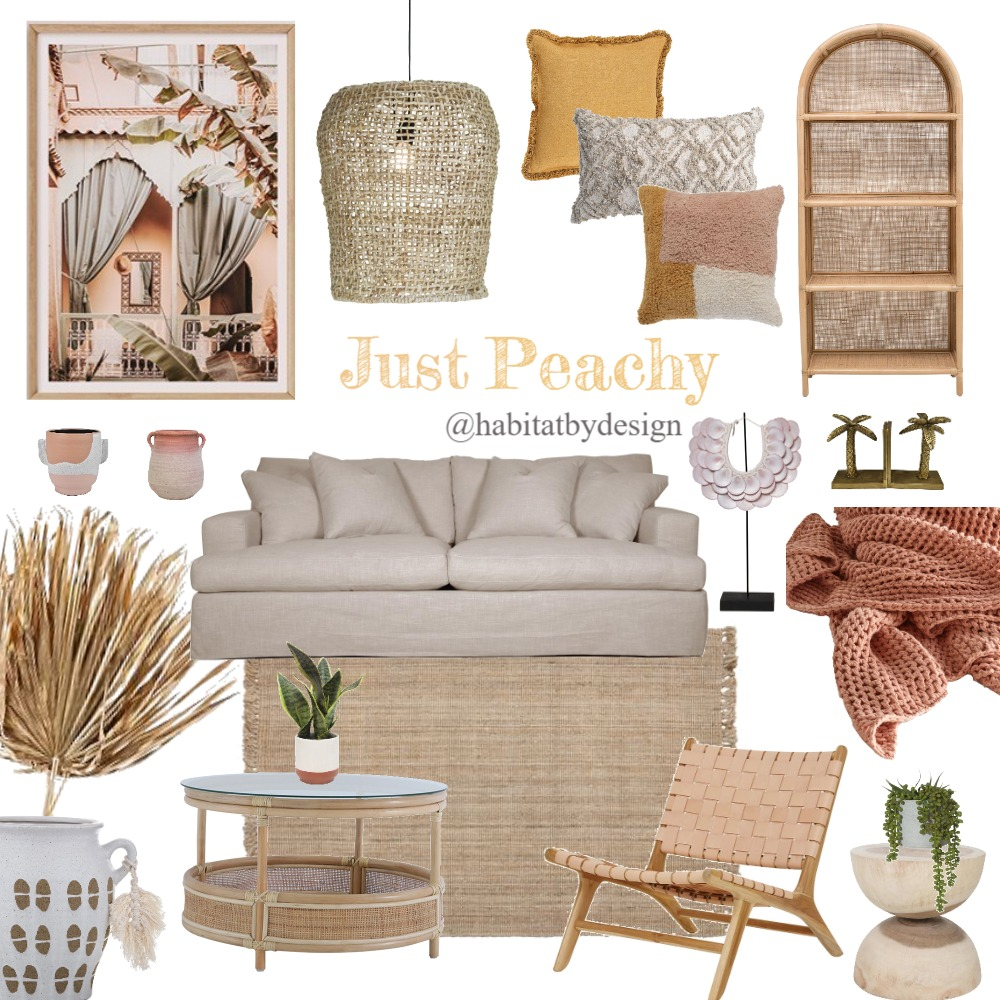 Just Peachy Interior Design Mood Board by Habitat_by_Design on Style Sourcebook