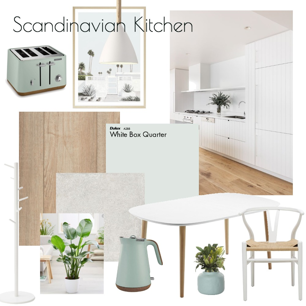 Scandi Kitchen Interior Design Mood Board by georgialeary on Style Sourcebook