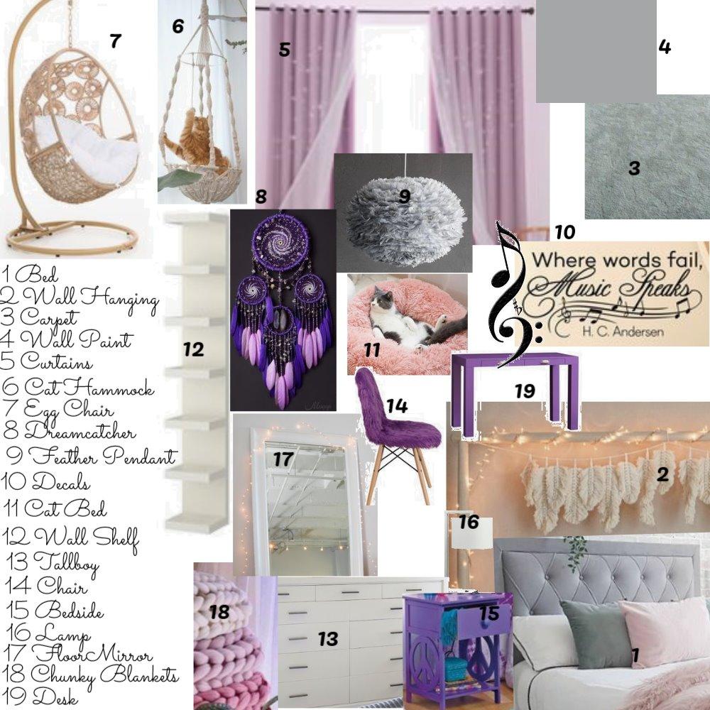 Lees Bedroom Module 10 Interior Design Mood Board by allison61 on Style Sourcebook
