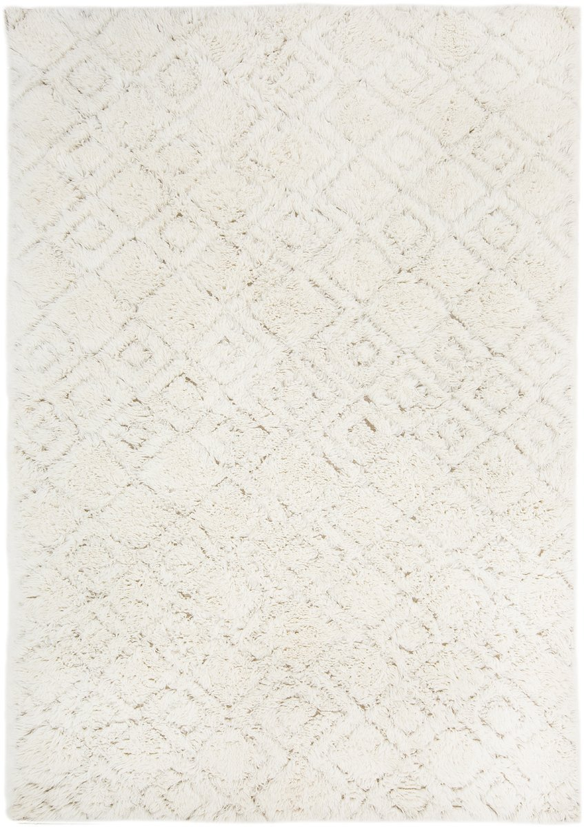 Alina Diamond Pattern Berber Wool Shag Rug by Miss Amara, a Shag Rugs for sale on Style Sourcebook