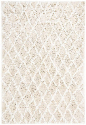 Simrika Cream and Ivory Berber Wool Shag Rug by Miss Amara, a Contemporary Rugs for sale on Style Sourcebook