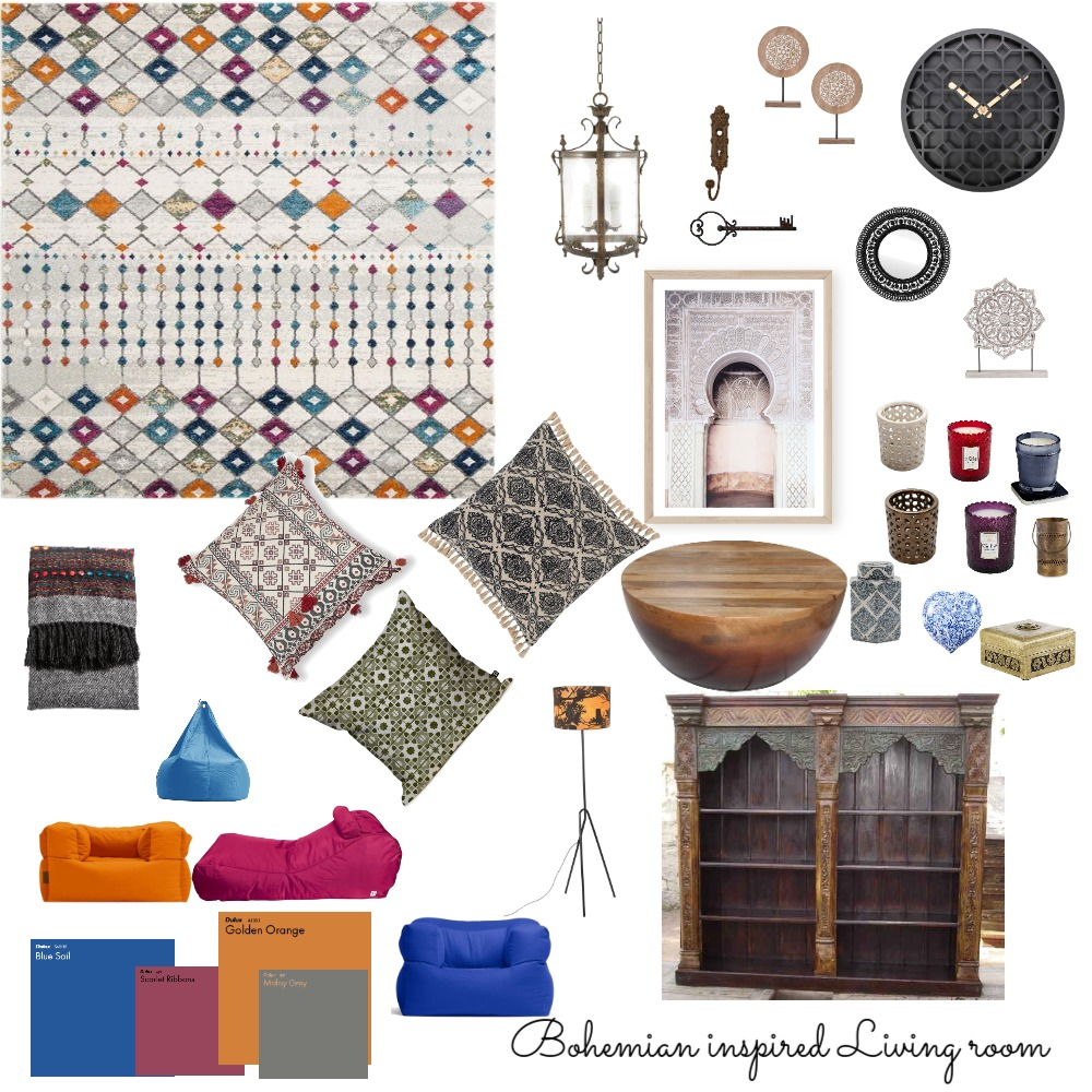 Bohemian Interior Design Mood Board by BerleneL on Style Sourcebook