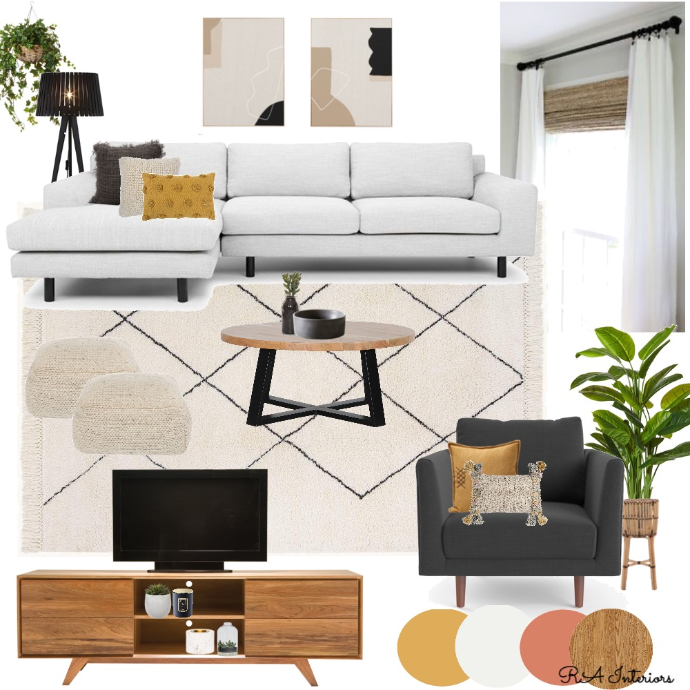 Mod 9 Living Room Interior Design Mood Board by RA Interiors on Style Sourcebook