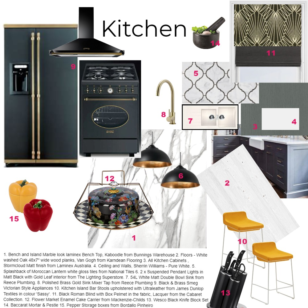 Kitchen module 9 Interior Design Mood Board by CindyBee on Style Sourcebook
