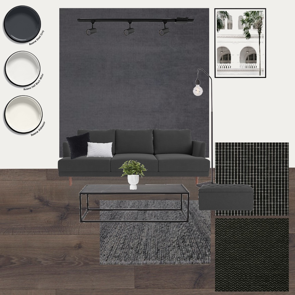 Living BW Interior Design Mood Board by anitra on Style Sourcebook