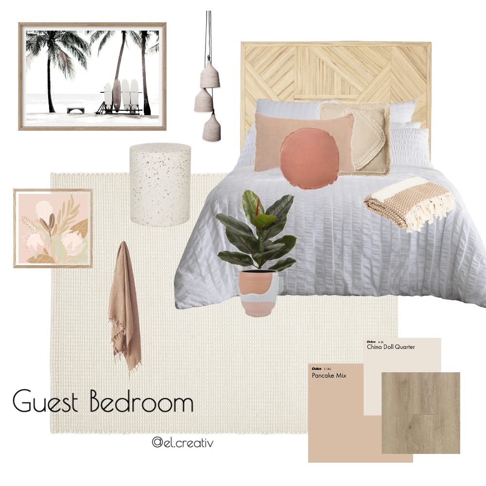 Guest Bedroom Interior Design Mood Board by el.creativ on Style Sourcebook