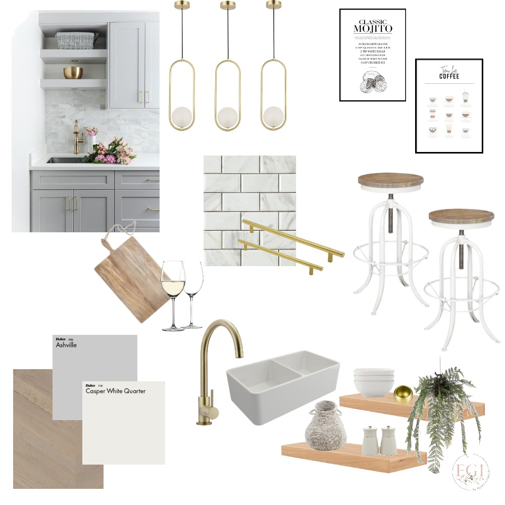 Grey Kitchen Interior Design Mood Board by Eliza Grace Interiors on Style Sourcebook
