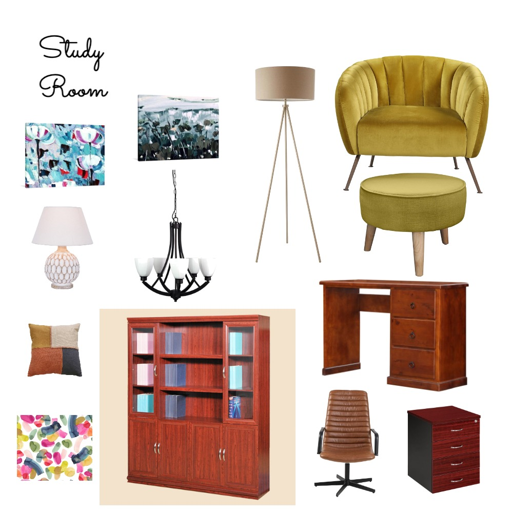 Study Room Interior Design Mood Board by Priyanka Girish on Style Sourcebook