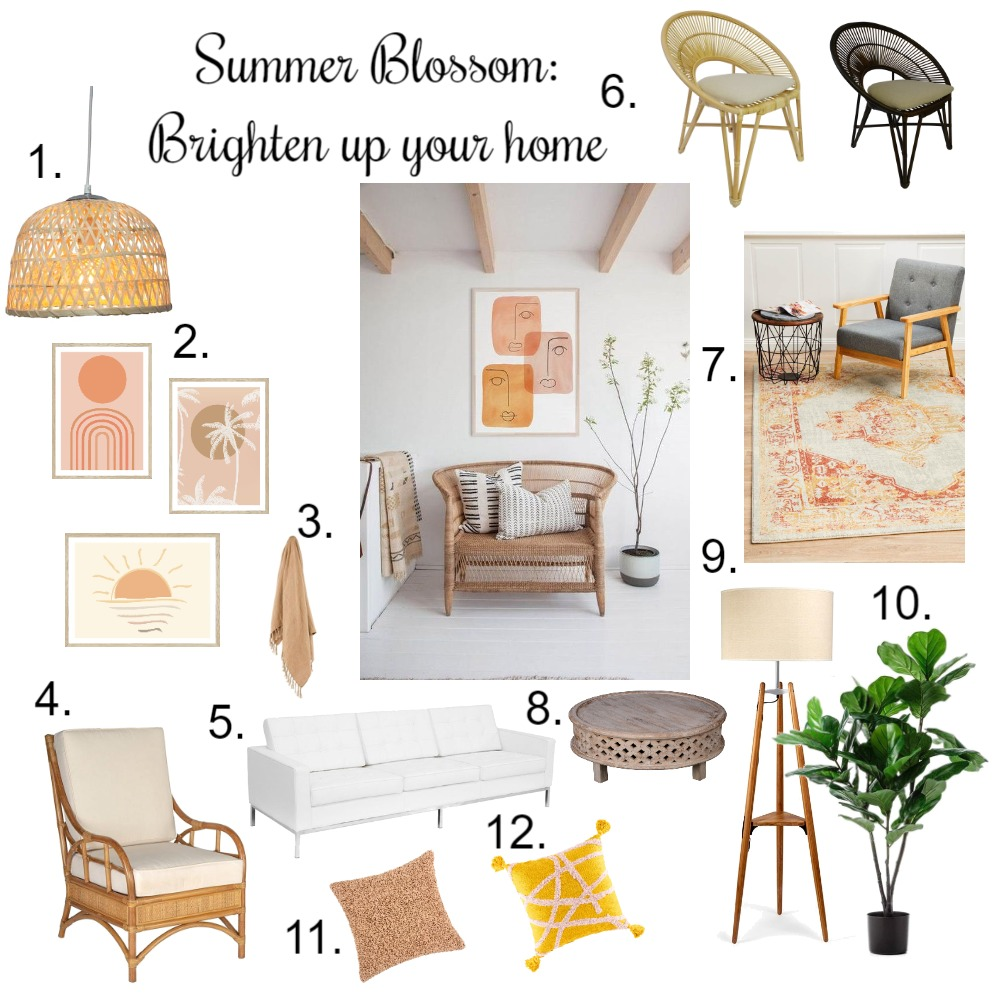 summer blosson Interior Design Mood Board by rachel_little9 on Style Sourcebook