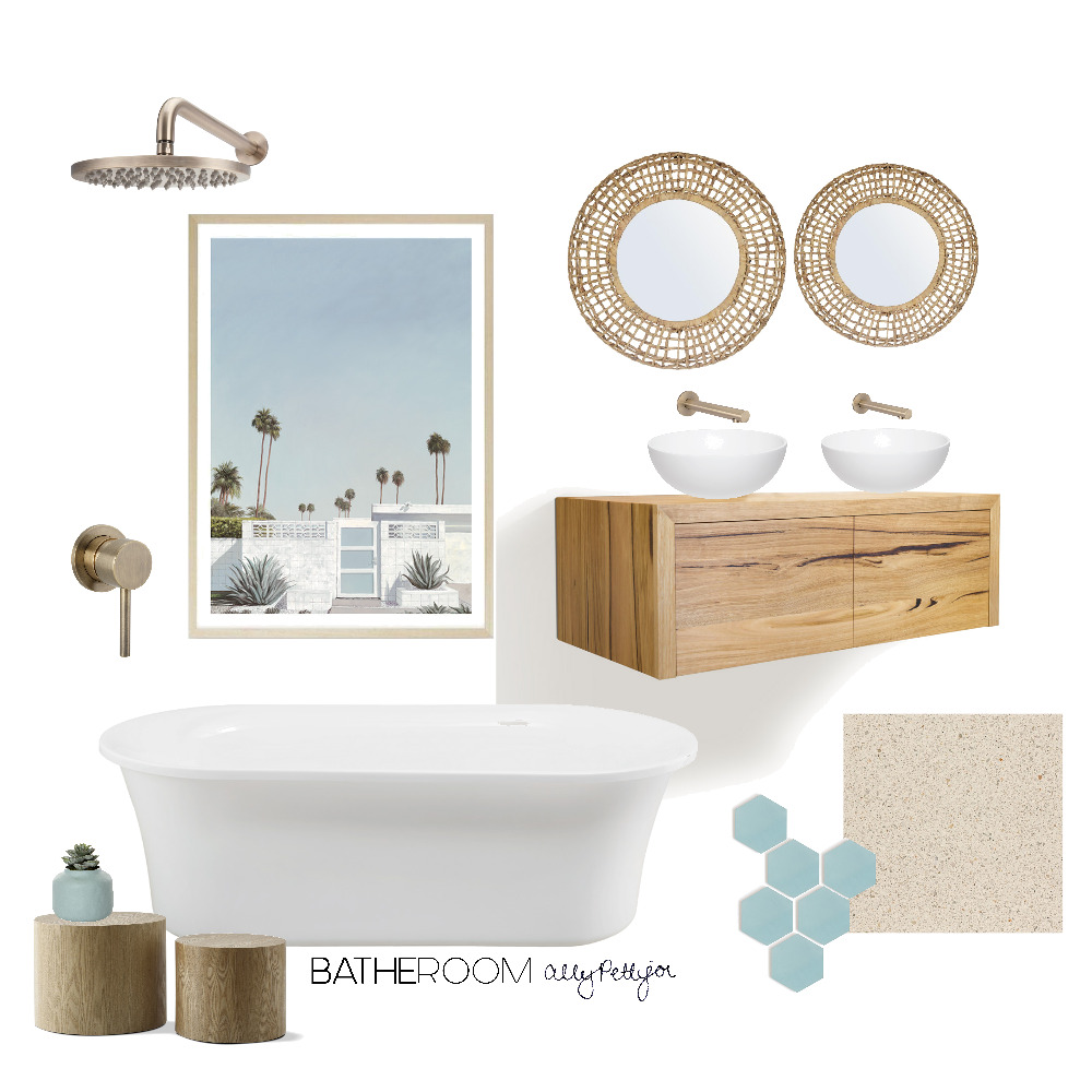Bohemian coastal bathroom mood board Interior Design Mood Board by BATHE ROOM Bathroom Renovations Adelaide on Style Sourcebook