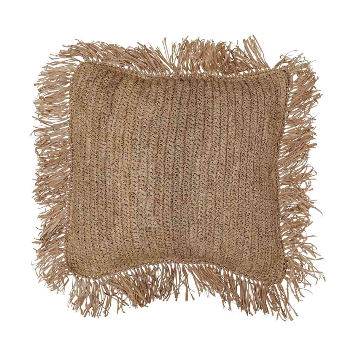 Raffia Cushion Cover 50x50cm in Natural by OzDesignFurniture, a Cushions, Decorative Pillows for sale on Style Sourcebook