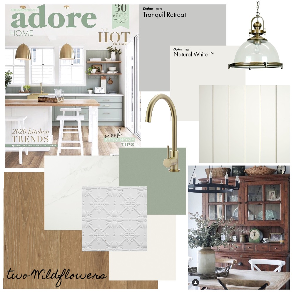 Rourke's Kitchen/dining Interior Design Mood Board by Two Wildflowers on Style Sourcebook