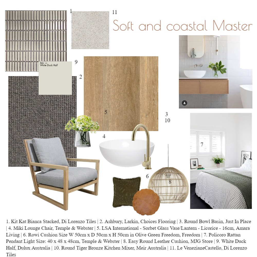 Soft and Coastal Master Interior Design Mood Board by taketwointeriors on Style Sourcebook
