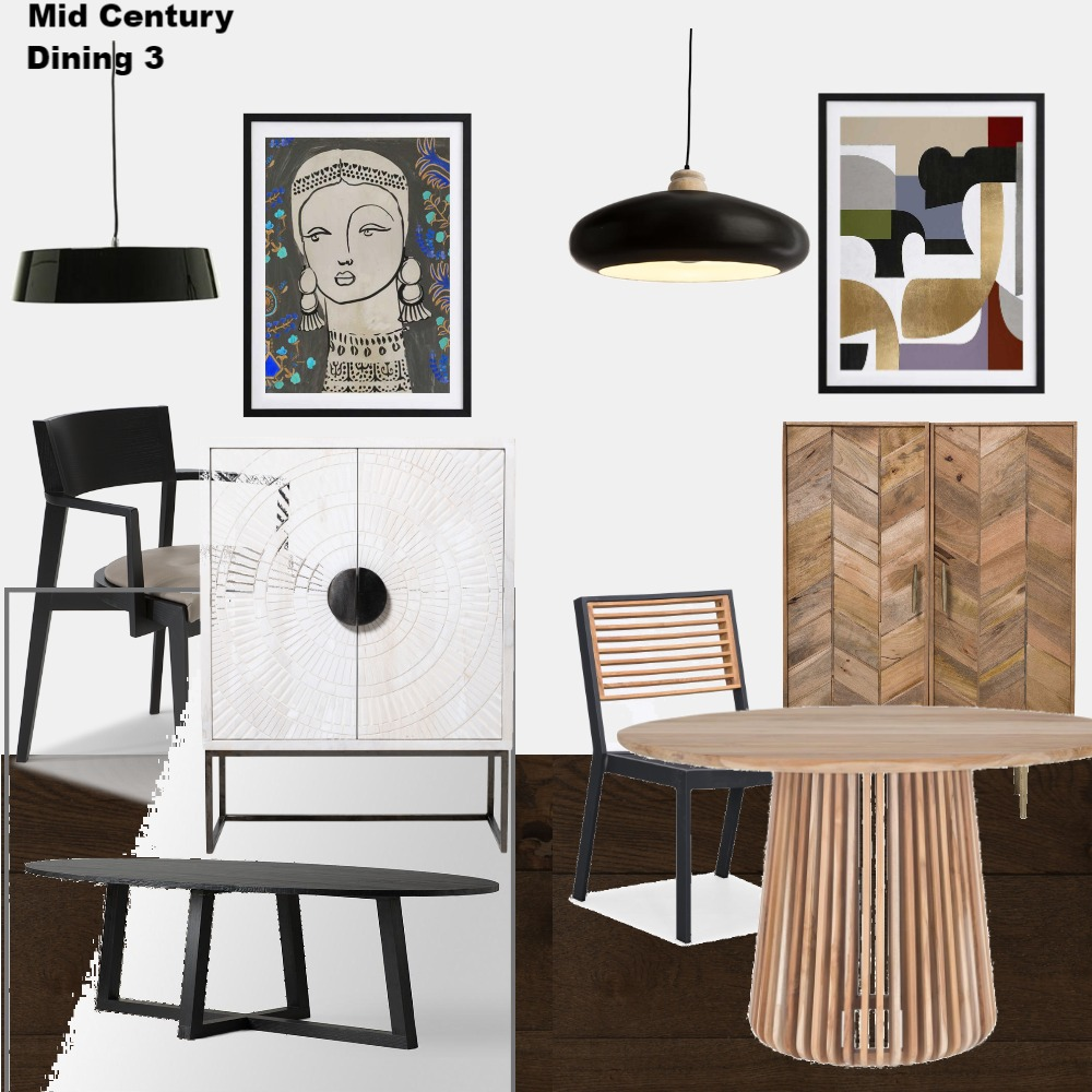 Mid Century Dining 3 Interior Design Mood Board by Jo Laidlow on Style Sourcebook