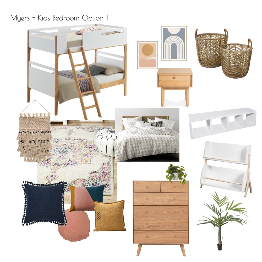 Myers - Kids Bedroom Option 1 Interior Design Mood Board by ashwhiting on Style Sourcebook