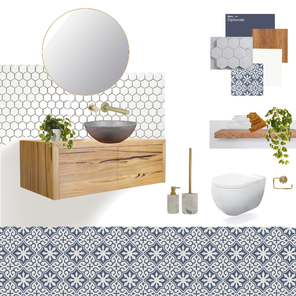 Module 9: Toilet Interior Design Mood Board by ramanning02 on Style Sourcebook