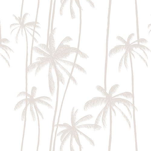 Neutral Palms on White - removable wallpaper by Boho Art & Styling, a Wallpaper for sale on Style Sourcebook
