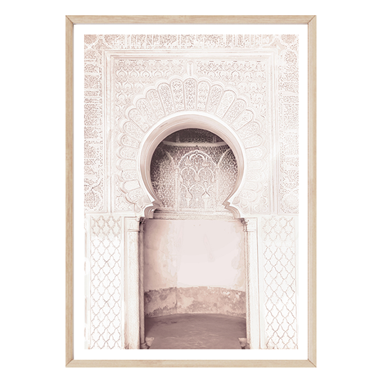 Blush Moroccan Arch by Boho Art & Styling, a Prints for sale on Style Sourcebook