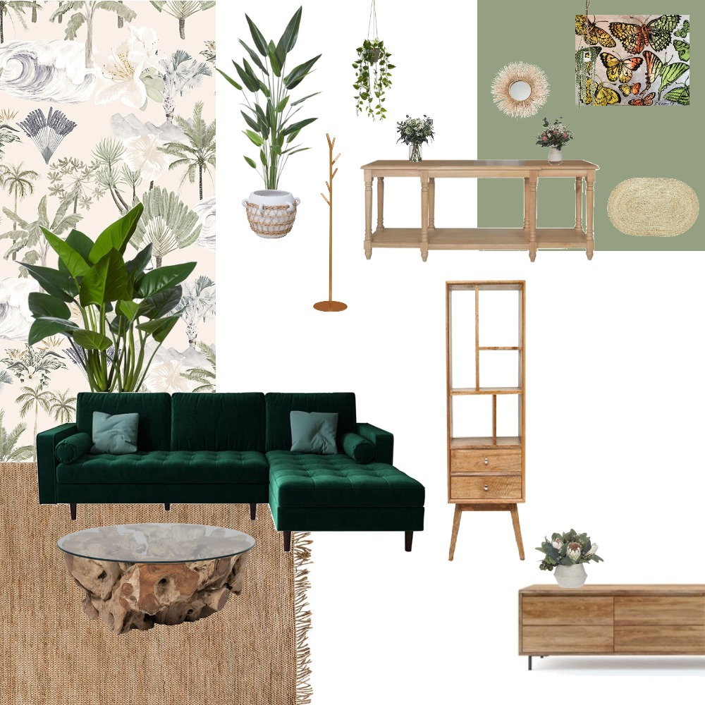 biophilic living entry Interior Design Mood Board by marie riv on Style Sourcebook