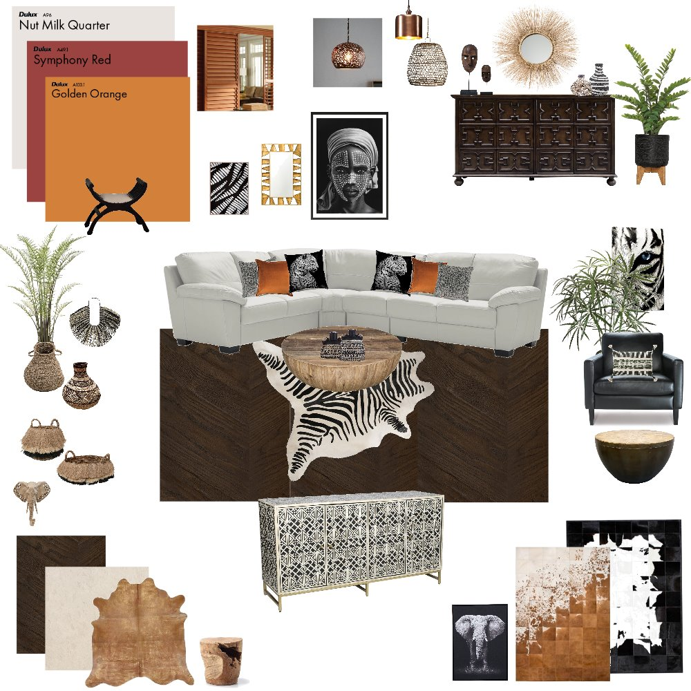 Modern African Inspirations Interior Design Mood Board by njparker@live.com.au on Style Sourcebook