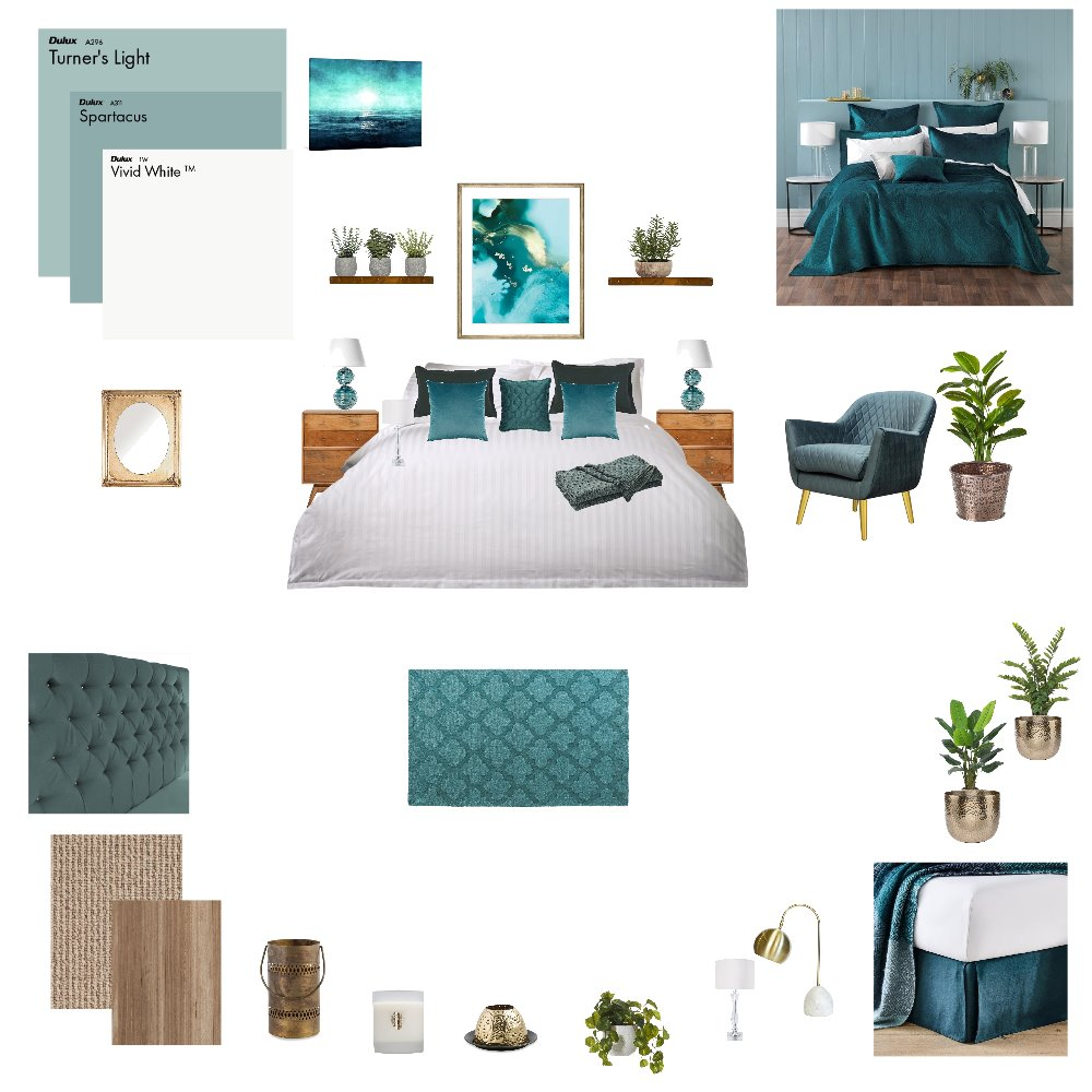 Green Contemporary Bedroom Interior Design Mood Board by njparker@live.com.au on Style Sourcebook