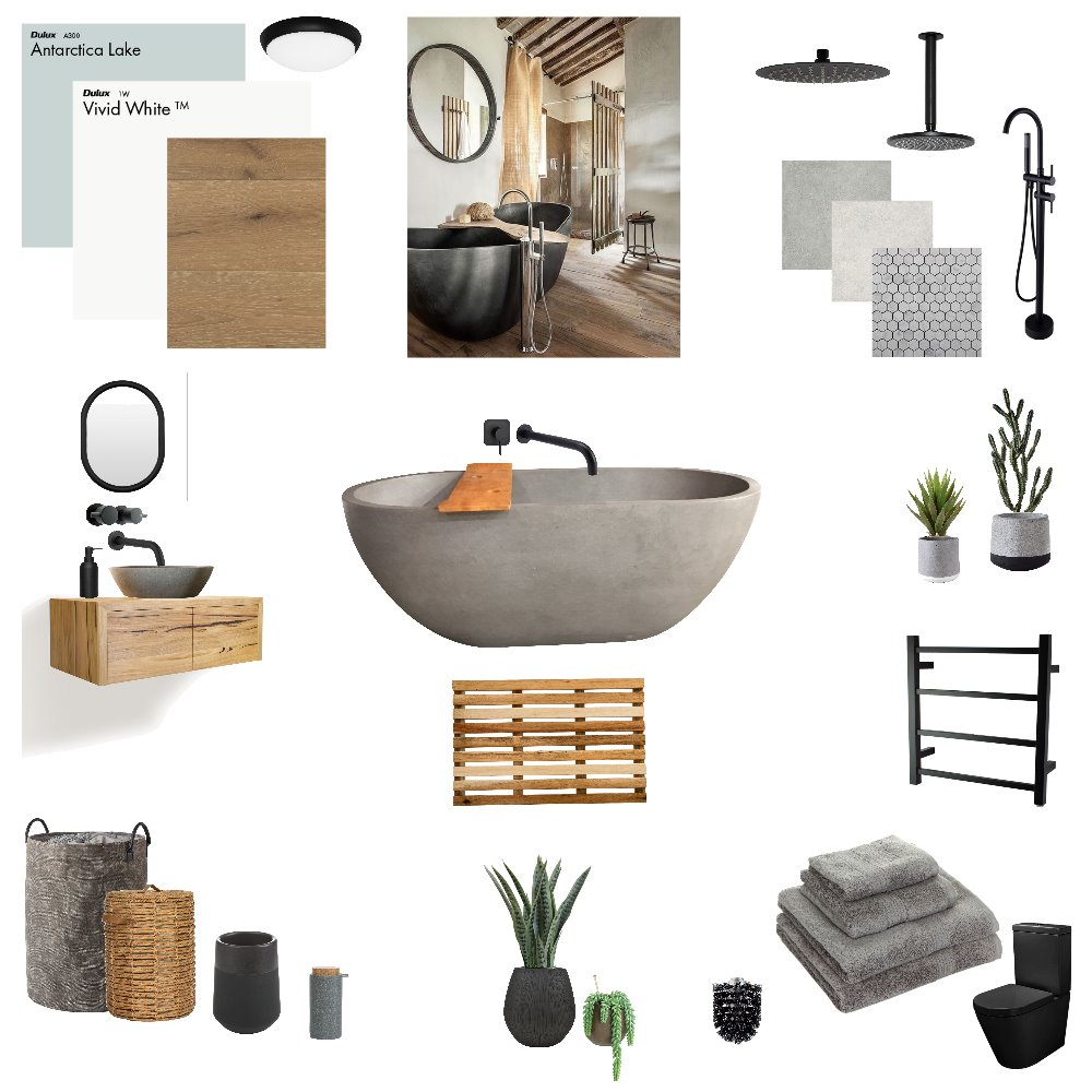 Wabi Sabi Bathroom Interior Design Mood Board by njparker@live.com.au on Style Sourcebook