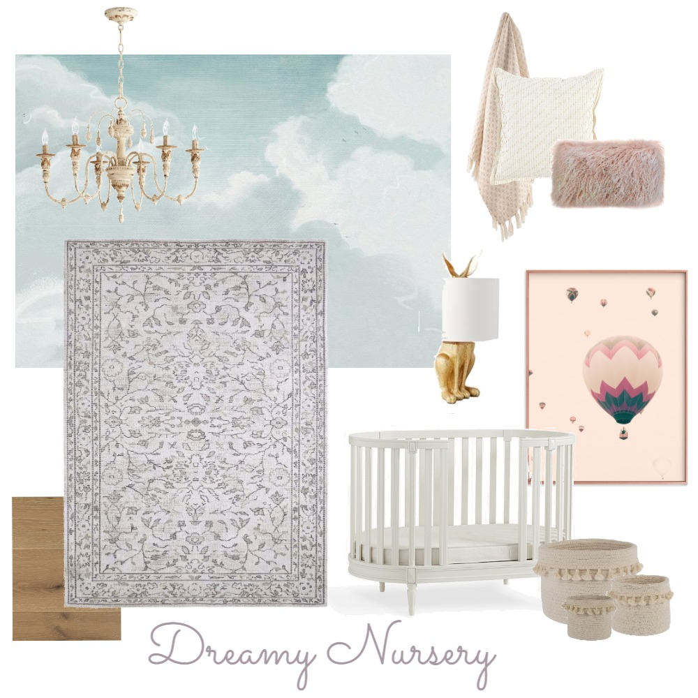 Dreamy Nursery Interior Design Mood Board by steph231 on Style Sourcebook