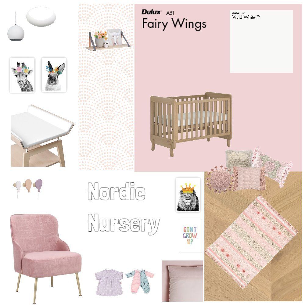 Nordic Nursery Interior Design Mood Board by njparker@live.com.au on Style Sourcebook