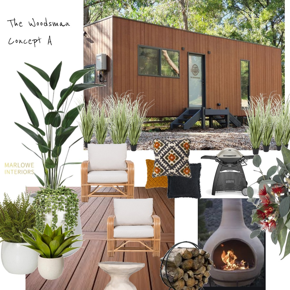 Concept A The Woodsman Interior Design Mood Board by Marlowe Interiors on Style Sourcebook