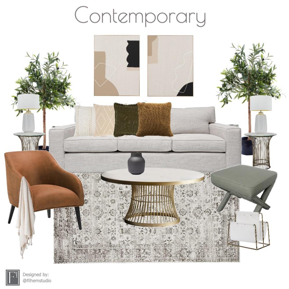 Living Room Interior Design Mood Board by Filhem Studio on Style Sourcebook
