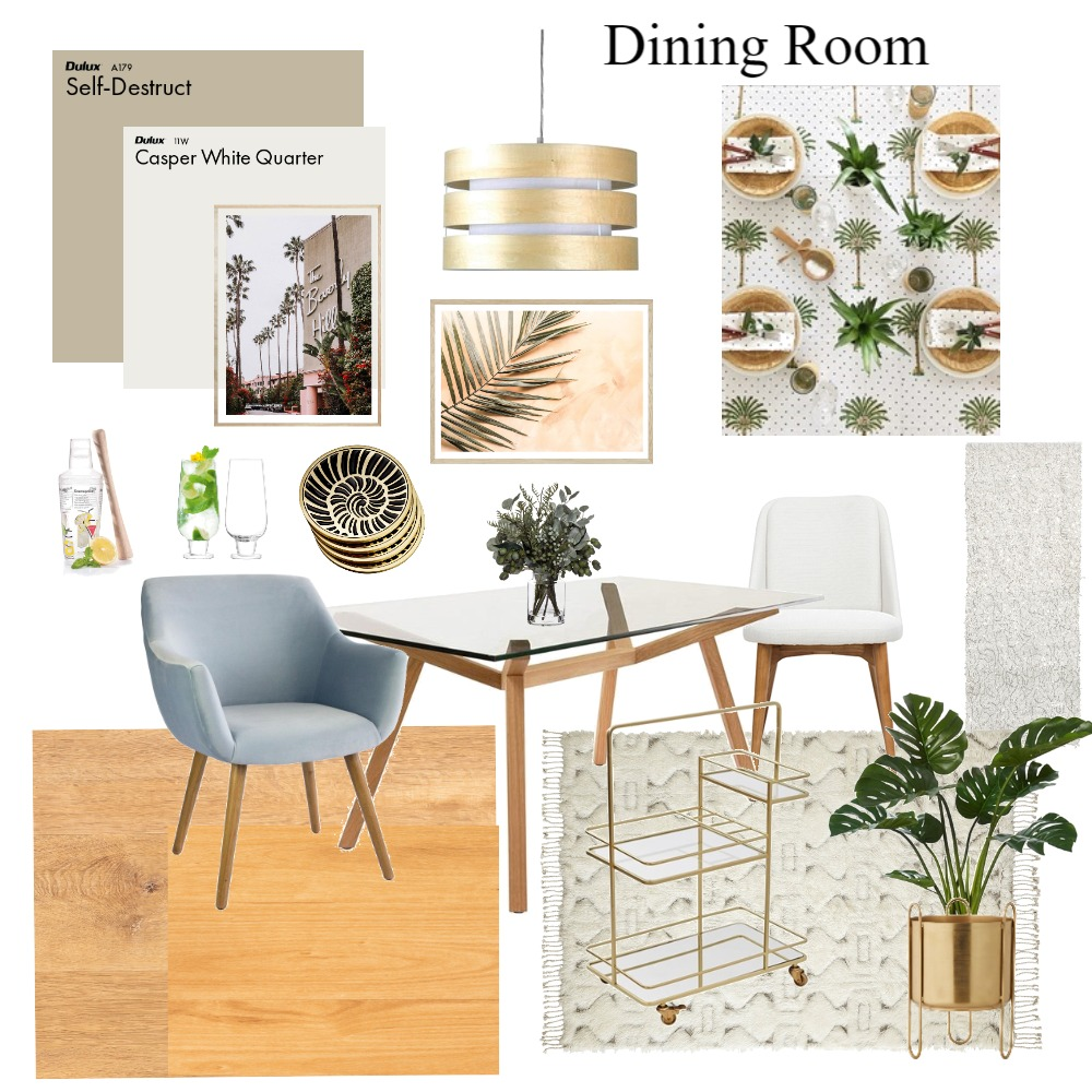 Dining Room Interior Design Mood Board by Bruna de Paula on Style Sourcebook