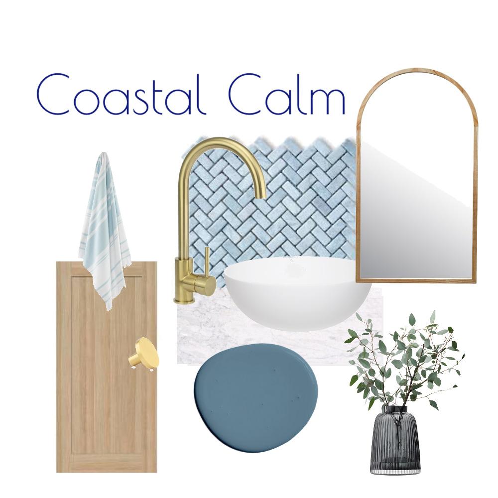 Coastal Calm Flat Lay Bathroom Interior Design Mood Board by Kohesive on Style Sourcebook