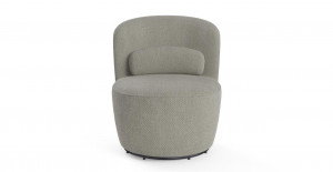 Ada Swivel Accent Chair Gainsboro Grey by Brosa, a Chairs for sale on Style Sourcebook