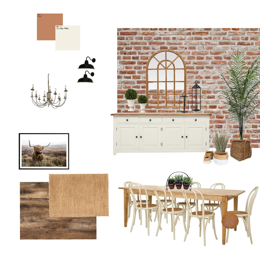 COUNTRY DINING ROOM Interior Design Mood Board by jreaume on Style Sourcebook