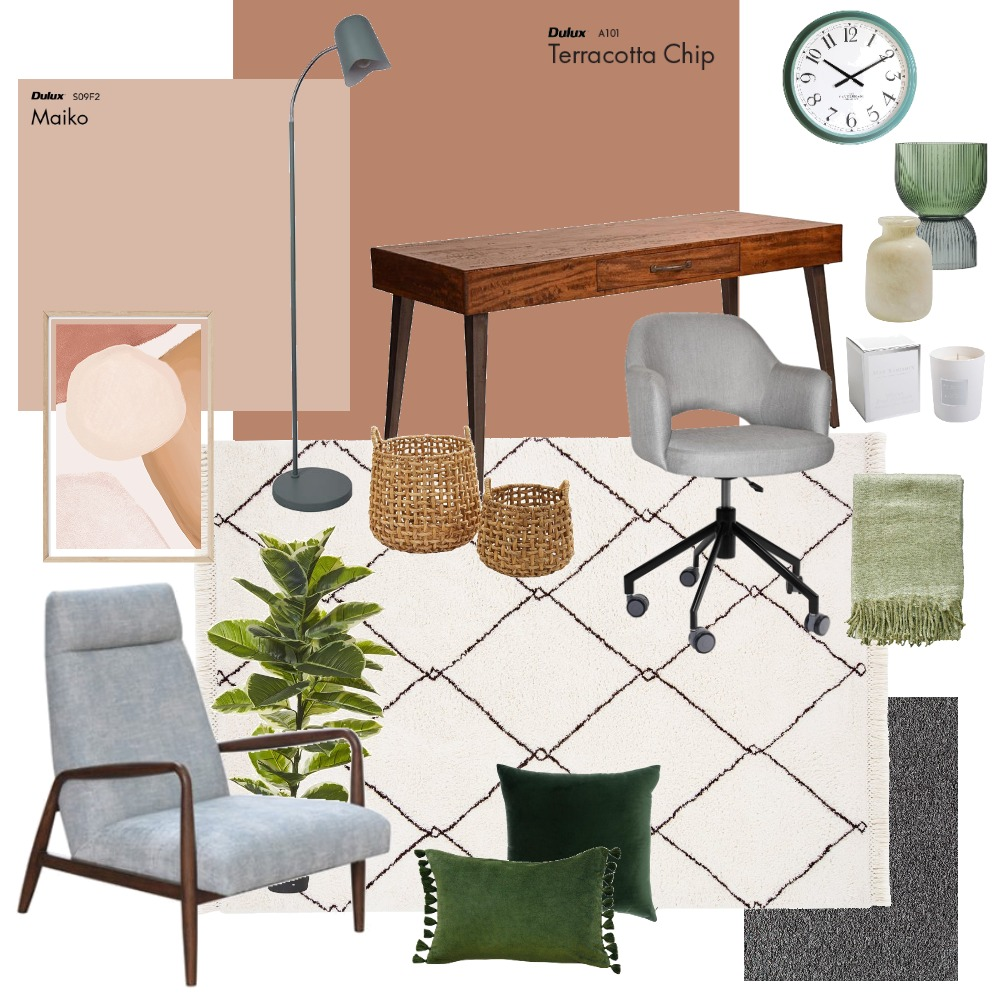 home office wollert Interior Design Mood Board by ecs22 on Style Sourcebook